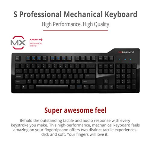 Das Keyboard Model S Professional Mechanical Keyboard - High Performance Soft Tactile Feedback - Enhanced 104 Key Layout - Laser Etched Keycaps to Prevent Fading - Cherry MX Brown Switches - Full NKRO