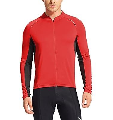 Baleaf Men's Full Zip Long Sleeve Cycling Jersey