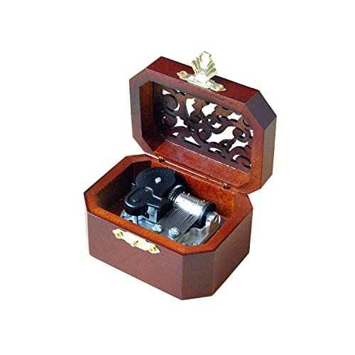 WESTONETEK Vintage Wood Carved Mechanism Musical Box Wind Up Music Box Gift For Christmas/Birthday/Valentine's day, Melody Castle in the Sky