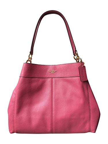Coach Pebbled Leather Lexy Shoulder Bag Handbag (Strawberry)