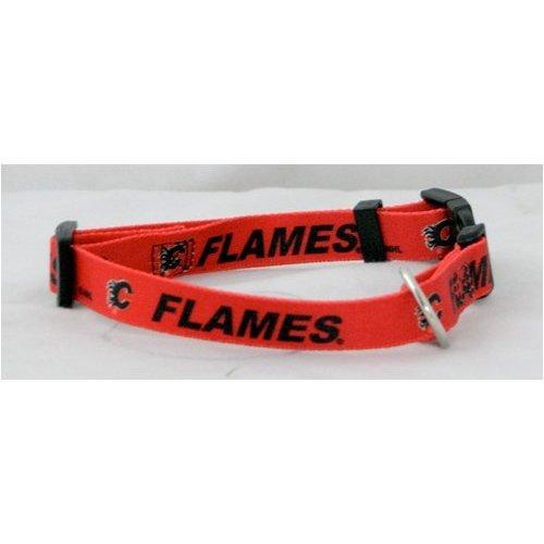 Hunter Mfg. LLP NHL Calgary Flames Adjustable Pet Collar, Team Color, X-Small