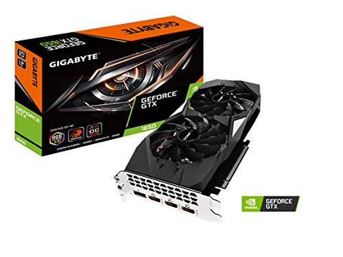 GIGABYTE GeForce GTX 1650 Gaming OC 4G Graphics Card, 2X Windforce Fans, 4GB 128-Bit GDDR5, Gv-N1650GAMING OC-4GD Video Card