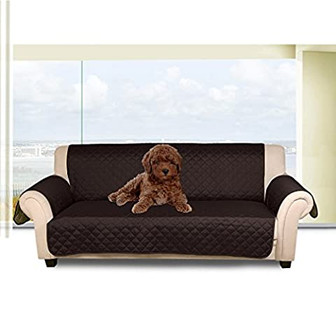 Auralum Reversible Quilted Sofa Furniture Protector for Kids Pets Couch Cover Waterproof Anti Slip Cover with Strap ,66