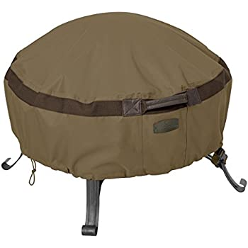 Classic Accessories Hickory Heavy Duty Full Coverage Round Fire Pit Cover    Durable And Water Resistant Patio Cover, Large (55 633 240101 EC)
