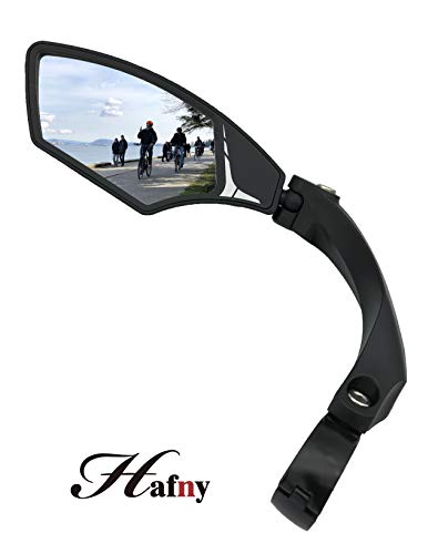 - Hafny New Handlebar Bike Mirror, HD,Blast-Resistant, Glass Lens, HF-MR095 (Left)