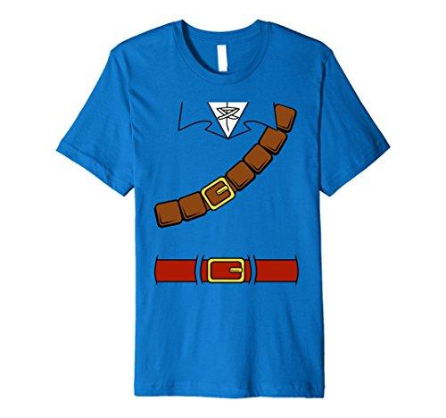 Nintendo Zelda Basic Link Costume Belt Tunic Premium T-Shirt ()