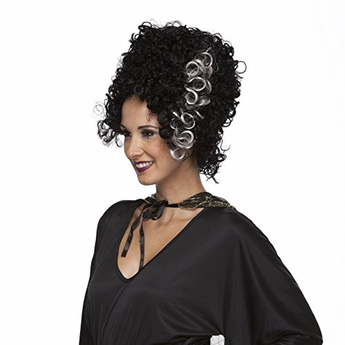 Characters Monster Bride Synthetic Wig Black and (Frankenstein Characters Costumes)