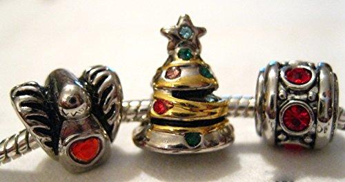 (Christmas Angel Tree Charm European Pugster Beads Fit Pandora Bracelet)