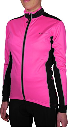 Piu Miglia Bari Soft Shell Ladies Cycling Jacket (Pink, L)