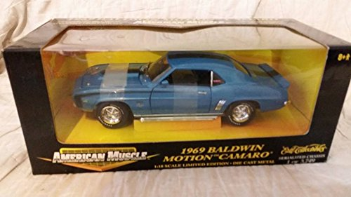 Baldwin Camaro 1969 Motion (Ertl Le 1969 Baldwin Motion Camaro in Blue 32471 American Muscle)