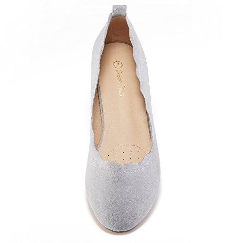 PAIRS Shoes Slip Grey Stacked Women's ELLE Flats Low DREAM Sole Fashion On 7dnv00W