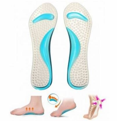 Color: Red Silicone Massaging Heel Insole Anti Pain Reduce Foot Fatigue by STCorps7