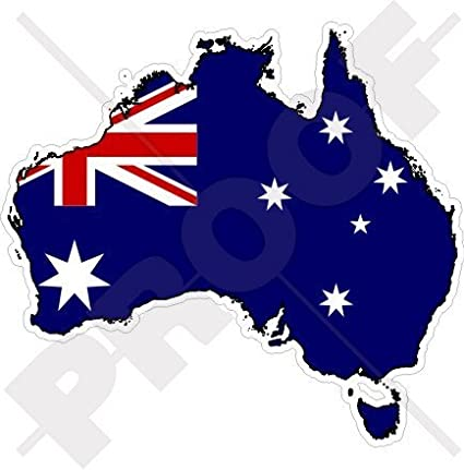 Australia Map With Flag.Australia Australian Map Flag Aussie 4 3 101mm Vinyl Bumper Sticker Decal