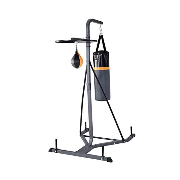 GOPLUS Punching Bag w/Stand 2 in 1 Hanger Wall Bracket Hanging Boxing Frame with Heavy Bag & Speed Bag 2