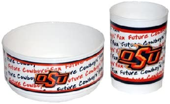 NCAA Oklahoma State Cowboys Infant Cup and Bowl Set