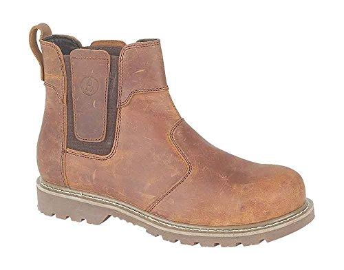 Amblers Slip-On Textile Lined Mens Boots - Brown - Size 12