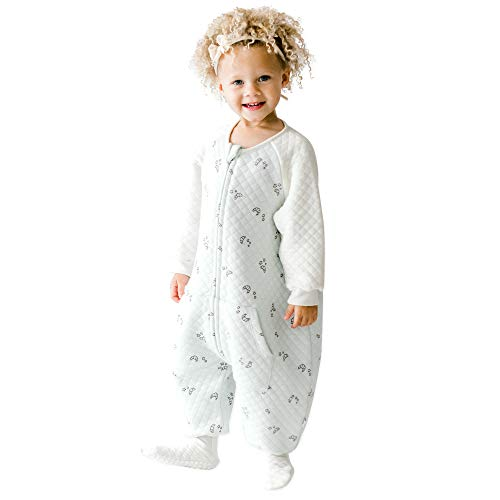 TEALBEE DREAMSIE: Toddler and Early Walker Baby Sleepsuit - 0.8 TOG Sleeping Sack with Feet and Sleeves Keeps Toddlers Babies Warm in Sleep from Spring to Winter - Wearable Blanket (2T-3T, X Large)