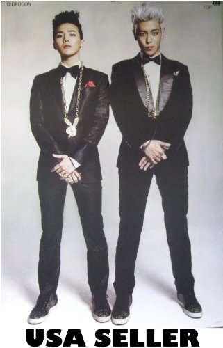 Bigbang G-Dragon and Top Poster Big Bang T.O.P. Tae Yang Gdragon Korean Kpop boy