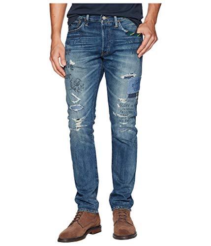 Ralph Lauren Polo Men's Sullivan Slim Stretch Jean, Thompkins Wash Repaired (33 32)