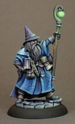 Reaper Miniatures Dungeon Dwellers Luwin Phost Wizard 07008 Unpainted Metal Mini ()