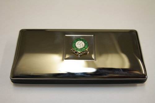 Polished chrome football club glasses case ? Plymouth Argyle by Knight ()