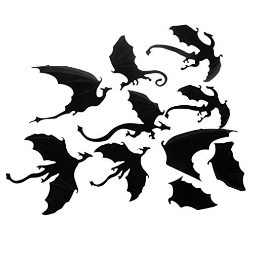 ForHe Dragon Wall Decals-7 Pack Lot Game of Thrones Spired DIY Halloween Gothic 3D Removable Dragon Wall Stickers for Wall Decor,Home Decoration