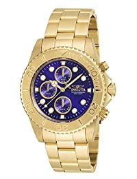 Invicta Men's 19157 Pro Diver Analog Display Japanese Quartz Gold Watch