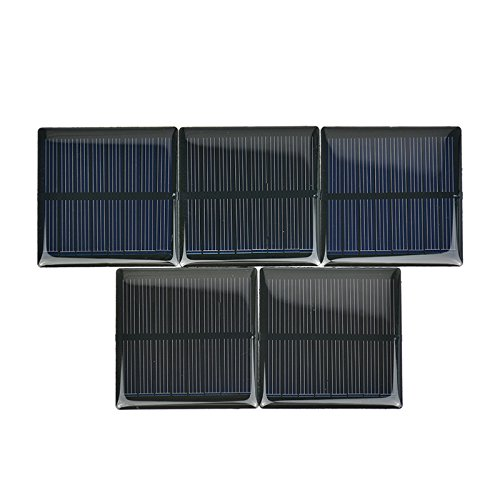 AOSHIKE 5Pcs 4V 90mA Micro Solar Panel DIY Photovoltaic Solar Cell Car Charger Lamp Light Sun Power Sunpower Solar Charger 63x63mm(F) by AOSHIKE (Image #1)