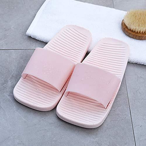 Baño Slippers Pink Female Sólido Color Pantuflas Zapatillas Leaking Slip Bath Bottom Summer Casa Soft Aminshap De Models Couple Fx47waFnTq