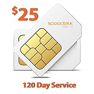 $25 Prepaid GSM Sim Card for GPS Tracker Devices Locators Pet Senior Kid 120 Day Wireless Service