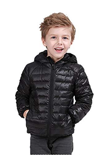 - TOURME Girls Boys Spring Lightweight Puffer Jackets Kids Hoodie Bubble Down Jacket Black