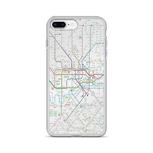 iPhone 7 Plus/iPhone 8 Plus Case Clear Anti-Scratch London map Cover Phone Cases for iPhone 7 Plus iPhone 8 -