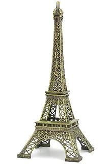 Well-Goal Bronze Tone Paris Eiffel Tower Figurine Statue Vintage Model Decor Alloy 25cm by Well-Goal