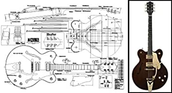 [GJFJ_338]  Amazon.com: Plan of Gretsch Country Classic Archtop Electric Guitar - Full  Scale Print: Musical Instruments | Archtop Wiring Diagram |  | Amazon.com