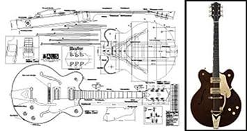 Plan de Gretsch Country Classic Archtop guitarra eléctrica - escala completa impresión