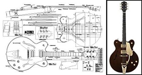 Plan de Gretsch Country Classic Archtop guitarra eléctrica - escala completa impresión: Amazon.es: Instrumentos musicales