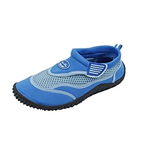 Brand New Toddlers Slip-On Athletic Blue Water Shoes / Aqua Socks Size 9