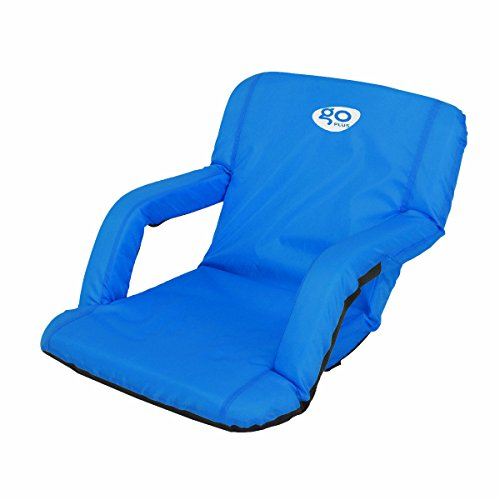 - Goplus Reclining Stadium Seat Portable Padded Cushion Camping Sport Chair W/Backpack (Blue)