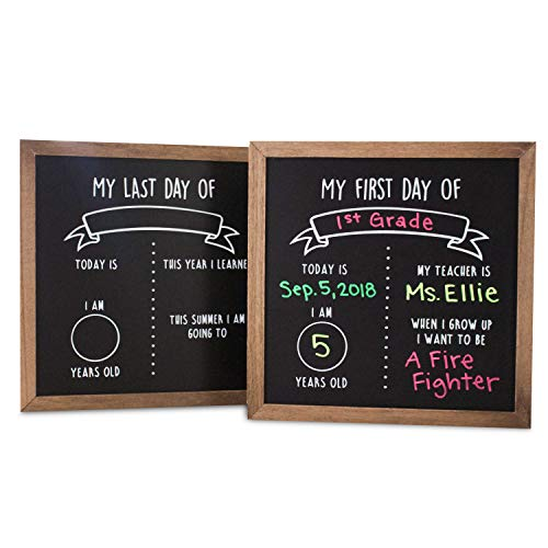 First and Last Day of School Reusable Chalkboard Sign | 12