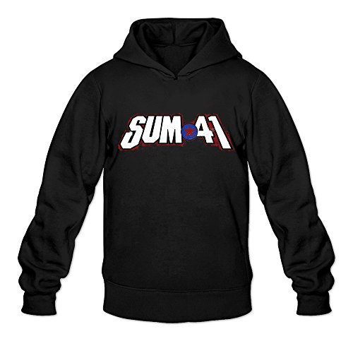 discount GYKU Men's Sum 41 Long Sleeve Hooded Sweatshirt White,100% Cotton for cheap
