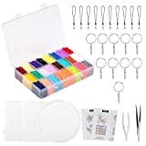 LIHAO 24000 Fuse Beads, 24 Color Mini Fuse Beading Kit with Pegboards Ironing Paper for Kids Party Craft
