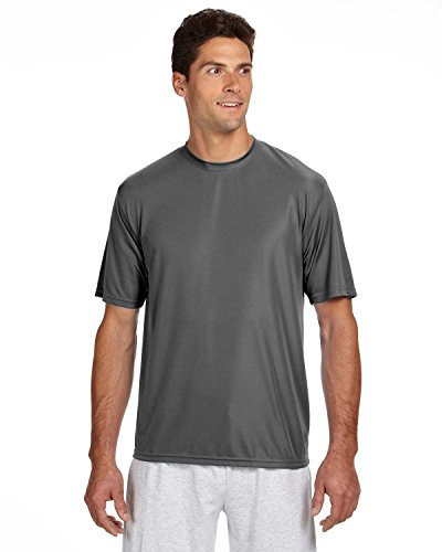 A4 Men's Cooling Performance Crew Short Sleeve, Graphite, 3X-Large