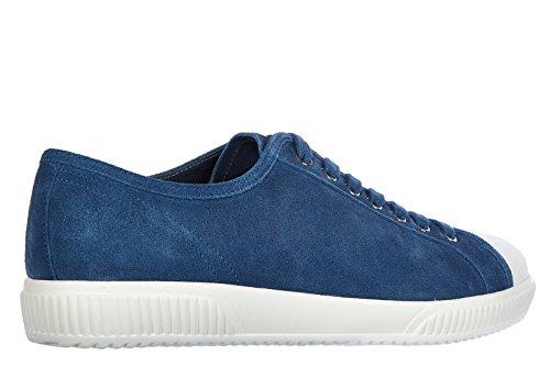 Prada Herrenschuhe Herren Wildleder Sneakers Schuhe blu