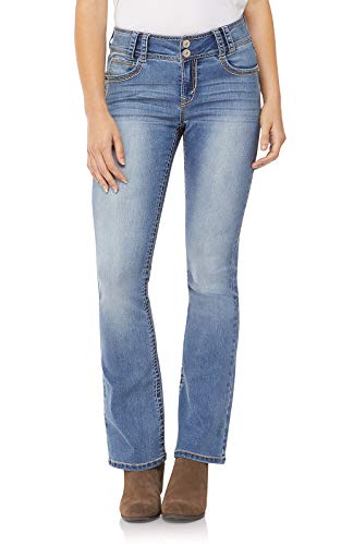 - WallFlower Junior's Instastretch Luscious Curvy Bootcut Jeans, Andrea, 0 Short