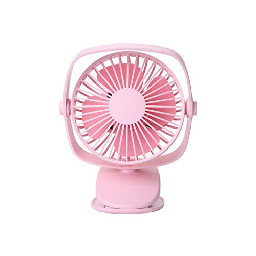 - telaite Fashion Battery Operated Clip On Mini Desk USB Fan with Rechargeable. 360°Rotation, Adjustable Speed. Cooling Portable Small Stroller Fan for Baby, Car Seat, Gym, Travel, Treadmill(Pink)