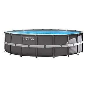 Intex Ultra Frame Piscina Desmontable, 26423 litros, Gris, 549x549x132 cm