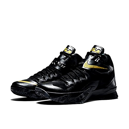 Nike Mens Zoom Soldier Viii Scarpe Da Basket Oro Metallizzato Nero (688579-070)