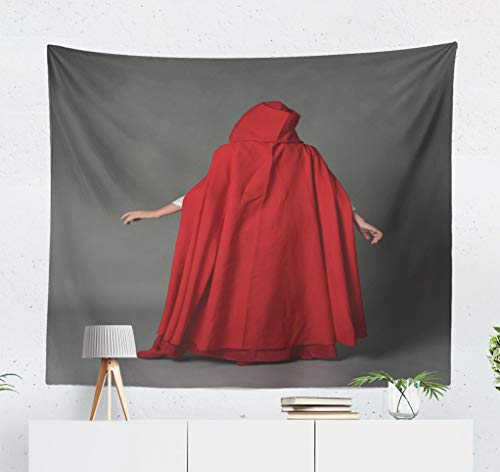 ASOCO Fantasy Tapestry, Tapestry Wall Hanging Full Portrait Girl Wearing Red Fantasy with Standing Studio Wall Tapestry for Bedroom Living Room Tablecloth Dorm 60