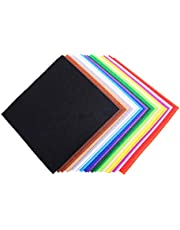 5.9''×5.9''Felt Fabric Sheets Assorted Color Patchwork Fabric for Sewing DIY Craft