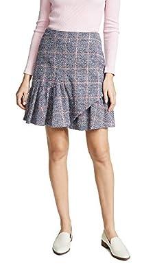 Rebecca Taylor Women's Tweedy Plaid Skirt